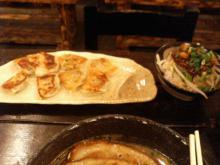 一口餃子+チャーシュー飯