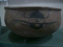 人面魚紋盆