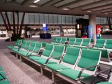 香港国際空港のベンチ