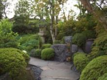 庭園のアプローチ