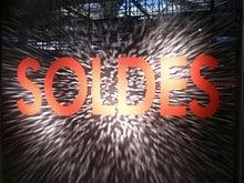 ZARAの「SOLDES」ロゴ