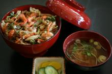 川えび旬の野菜かき揚げ丼
