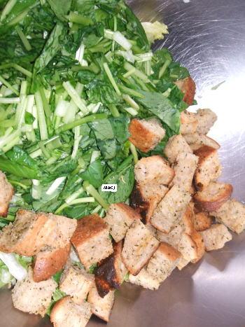 クルトン&ほうれん草サラダ