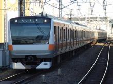中央線の電車と釜-H55