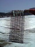 刈り取ったラベンダー編んで古布とのコラボ