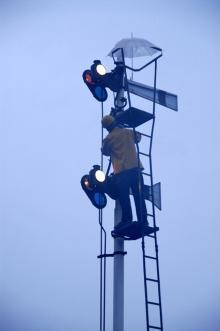 腕木式信号機1