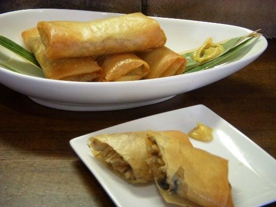 キヨミのガーデニングブログ-茹できのこで春巻きのレシピ