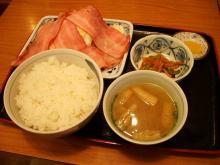 ベーコンエッグ定食-1