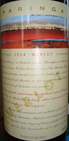 PARINGA MERLOT 2004