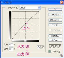 16_マゼンタ入力50→出力58