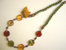 autumn leaf necklace