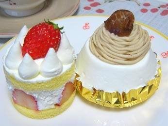 苺ショート&栗シフォン
