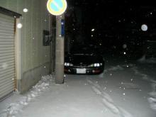 また雪が降ってきました