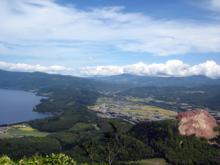有珠山から 洞爺湖と昭和新山