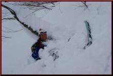 ロフトで綴る山と山スキー-切替えし失敗