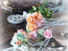 Plumerry(プルメリー)プリザーブドフラワースクール (千葉・浦安校)-春色 クラッチブーケ