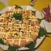 サーモンのゆずマヨカルパッチョで寿司ケーキの画像