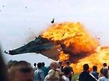 炎上する戦闘機