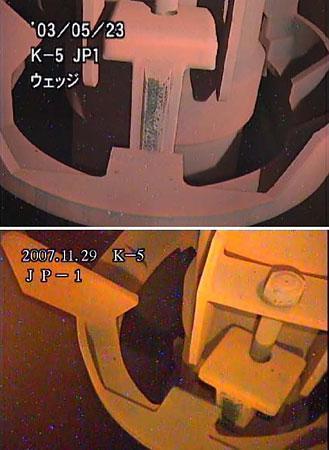 071130ジェットポンプくさび_5号機(震災前と後)