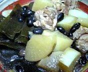 鶏大根昆布豆