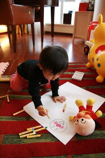 上海☆photoブログ-ぬり絵してるよ