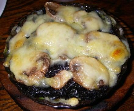 海苔トマッシュルームのチーズ焼き