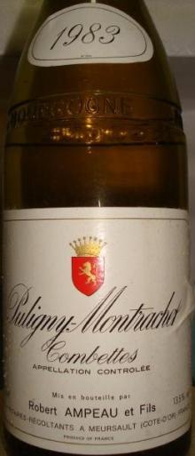 Puligny Montrachet Combettes Robert Ampeau1983_1