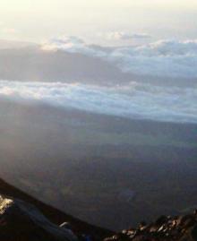 富士山頂風景