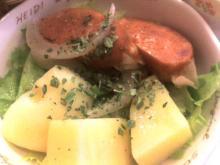 ジャガイモとチョリソのピリ辛サラダ