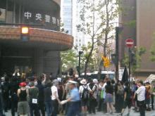 札幌中央署前