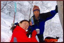 ロフトで綴る山と山スキー-乾杯~