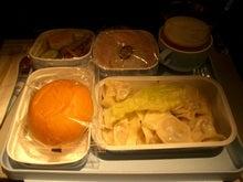 機内食の水餃子