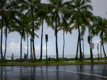 雨上がりのビーチ