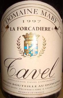 Tavel Domain Maby La Forcadiere 1997