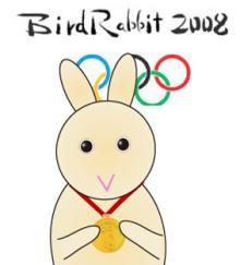 No天気な兎模様-BirdRabbit2008_medal