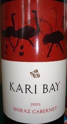 KARI BAY SHIRAZ CABERNET 2003