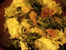キャベツとさつま菜のサラダ2