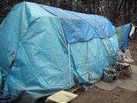 Hさんのテント