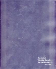 Centurion Member Benefits Partner Directory