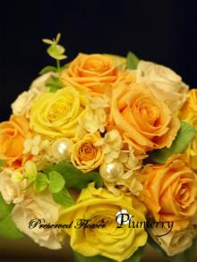 Plumerry(プルメリー)プリザーブドフラワースクール (千葉・浦安校)-オレンジパンナコッタ ブーケ