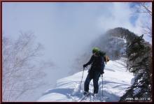 ロフトで綴る山と山スキー-コル到着