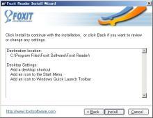 Foxit インストール画面 04