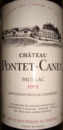 Ch Pontet Canet 1993