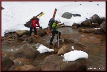 ロフトで綴る山と山スキー-梓川渡渉