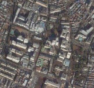 人工衛星から見た都内某所。