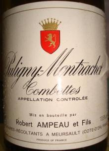 Puligny Montrachet Combettes Robert Ampeau1983_2