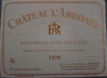 Ch L'ARROSEE 1979