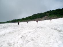白馬大池2雪渓