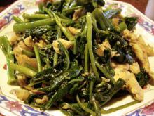 空芯菜とささみの炒めもの