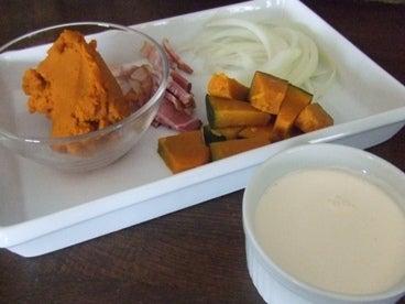 かぼちゃクリームパスタ食材